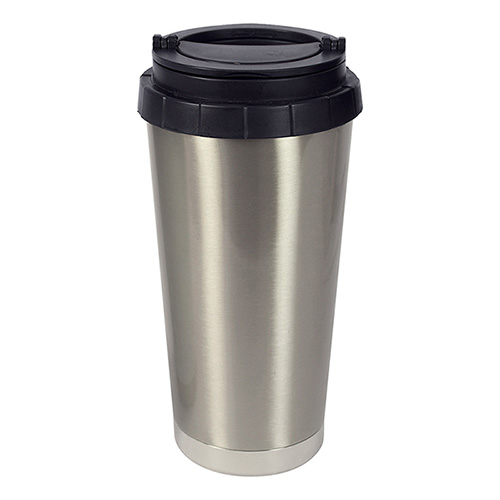Coated Mug : 16 oz Sublimation ORCA Thermal Cup-Silver